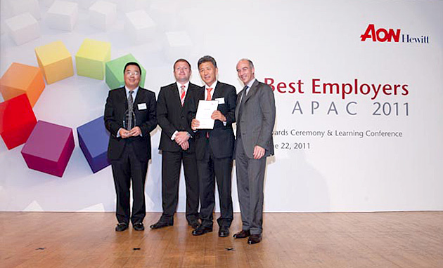 Best Employer in China 2011 and Best Employers in APAC 2011